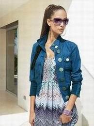 модная джинсовая куртка apart осень 2011