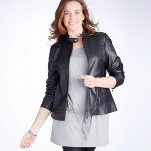 женская черная кожаная куртка ларедут 2011