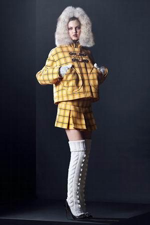 куртка с меховым капюшоном miu miu