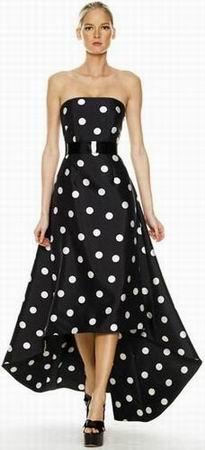 модное вечернее платье в горошек