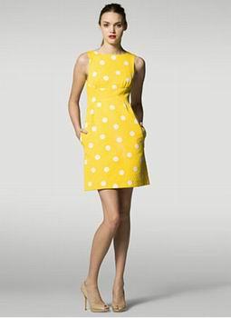Желтое маленькое платье