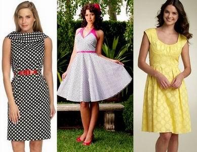летние платья в горошек