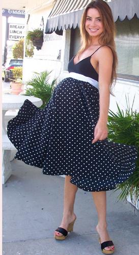 платье в горошек для беременных