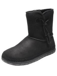 черные угги Tervolina зима 2011-2012 со шнурками