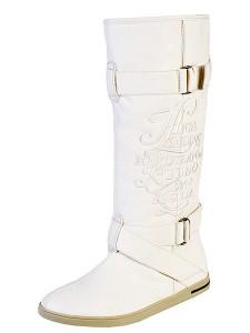 модные белые сапоги keddo 2011 2012
