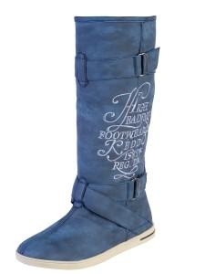 синие сапоги keddo без каблука 2011 2012
