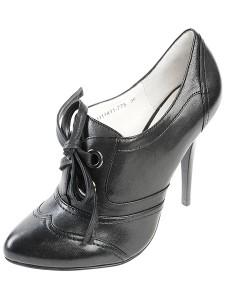 модные черные ботильоны mascotte на шнуровке