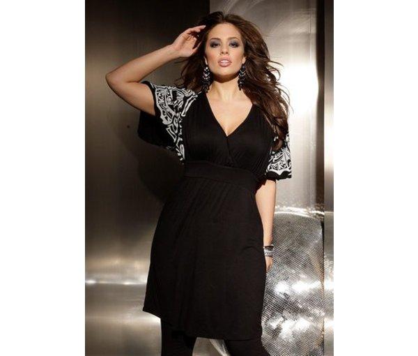 модное вечернее платье для полных девушек с большой грудью
