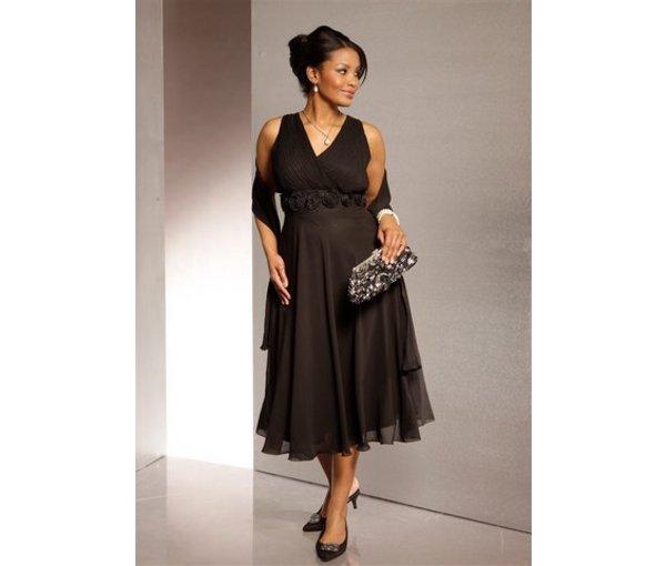 модное вечернее платье для полных женщин с большой грудью