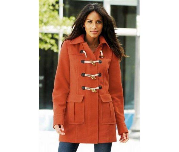 модное красное пальто 2012 даффлкоут