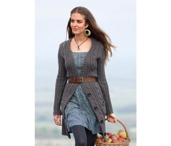 модное вязаное пальто 2012