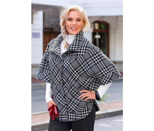 модное молодежное пальто 2012 в клетку
