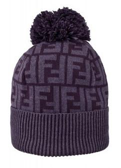 фиолетовая модная шапка fendi 2011-2012