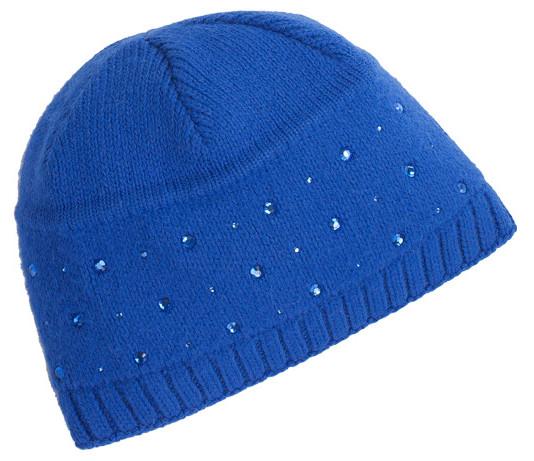 модная шапка цвет ярко-синий, осень-зима 2011-2012