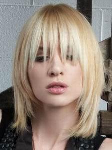 модная стрижка для волос средней длины 2012