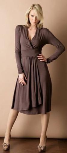 модное повседневное длинное платье осень-зима 2011-2012