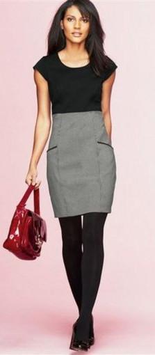 модное офисное платье 2011-2012