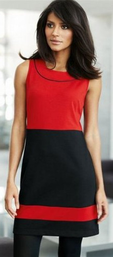 черно-красное офисное платье сезона 2011-2012