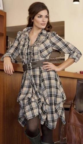 повседневное модное платье-рубашка купить