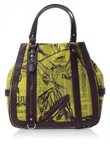 модная холщовая сумка 2011-2012 galliano