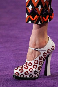 модная обувь с принтами от Prada