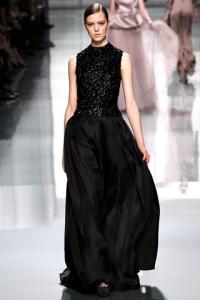 длинное черное платье Christian Dior 2012-2013