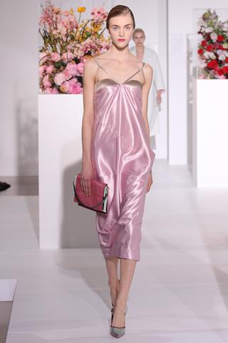 коктейльное платье металлик Jil Sander