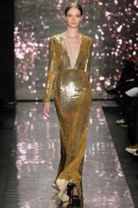 золотистое модное платье 2012-2013