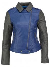 кожаная куртка на осень 2013 с косой молнией