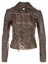 кожаная куртка с анималистичным узором