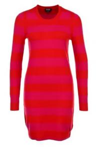 Платье в красно-розовую полоску от Escada Sport