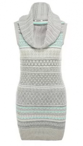 светлое платье без рукавов с узором
