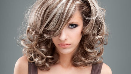 обычное мелирование волос