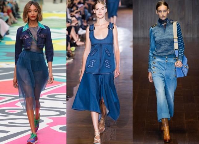 Модные-джинсовые-платья