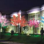 Световые деревья в интерьере квартиры