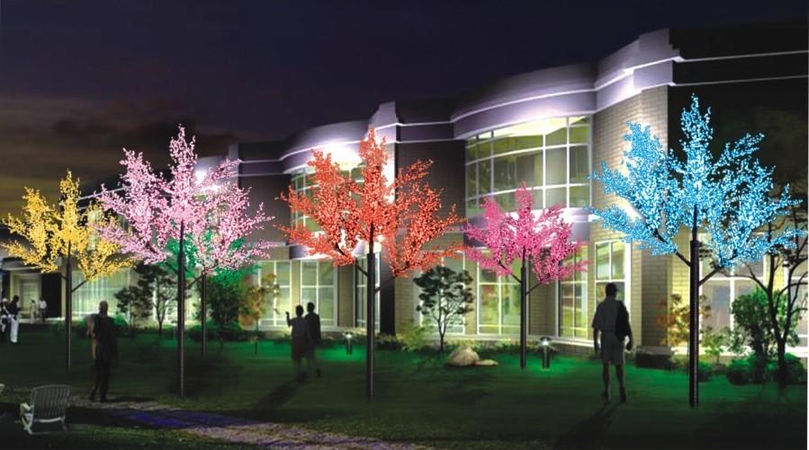Световые-деревья