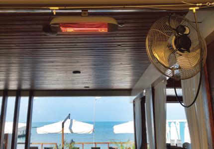 Инфракрасные обогреватели для улицы — весеннее тепло круглые сутки