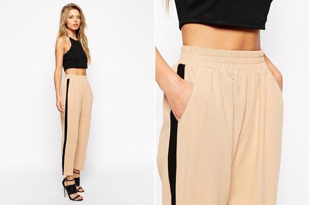 женские широкие спортивные штаны