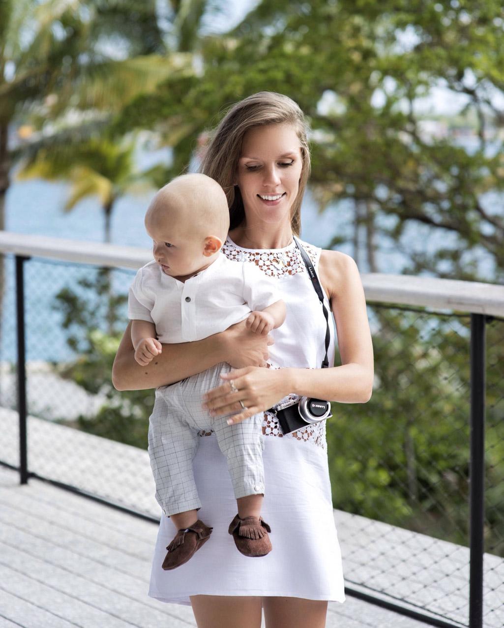 платье для прогулок с ребенком