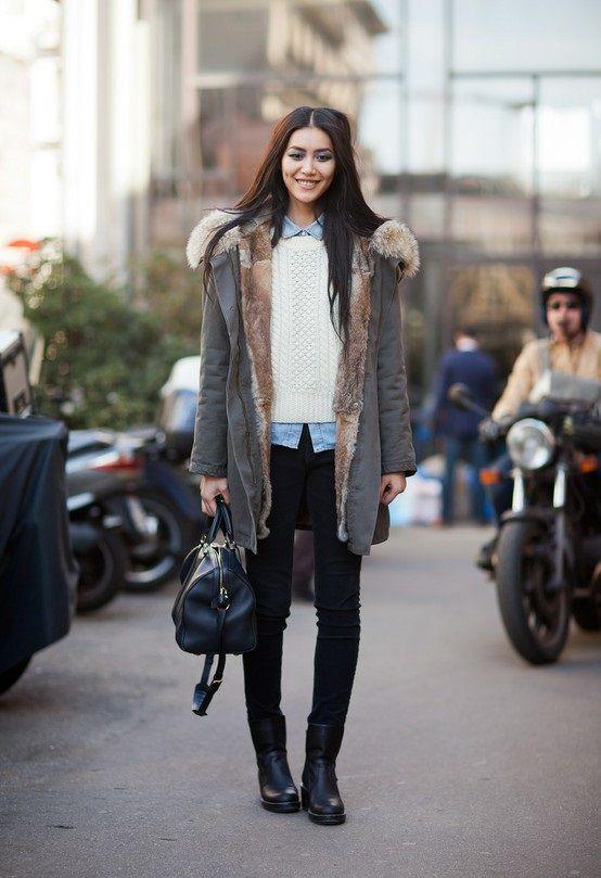 Женская парка – стильный элемент гардероба