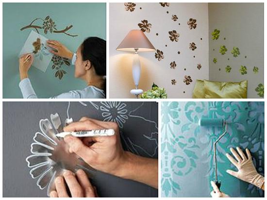 Как декорировать интерьер красками