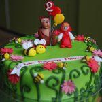 Любимые персонажи на детском торте